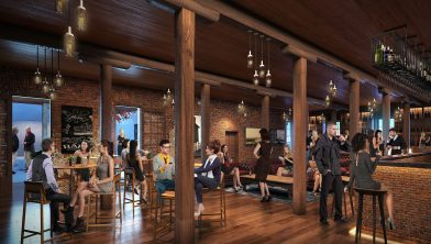 Inside the former DPI building which will offer mixed food and beverage experiences