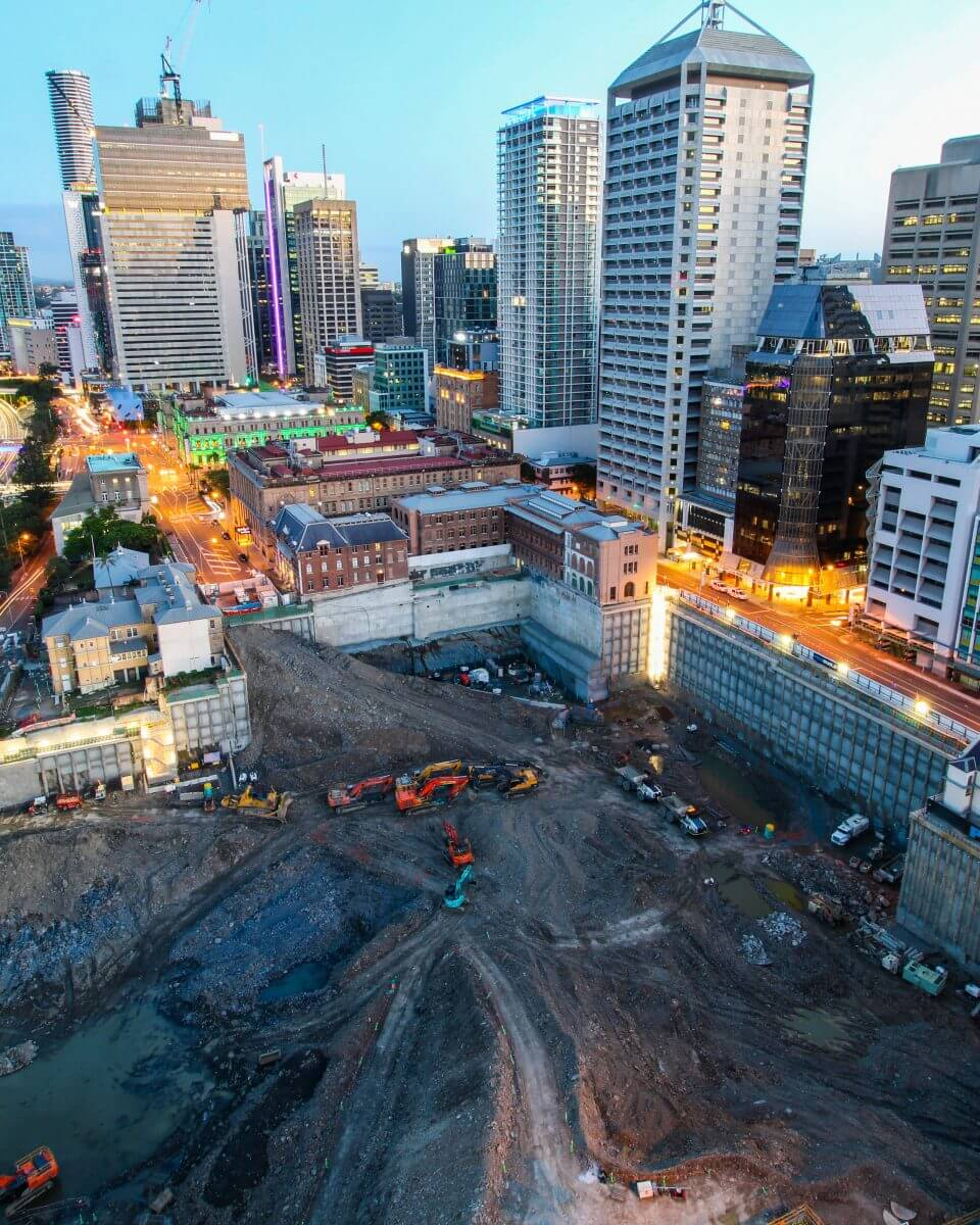 Excavation Of Queensland's Largest Basement Car Park